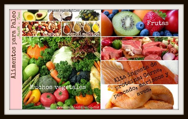 Alimentos de la dieta paleo