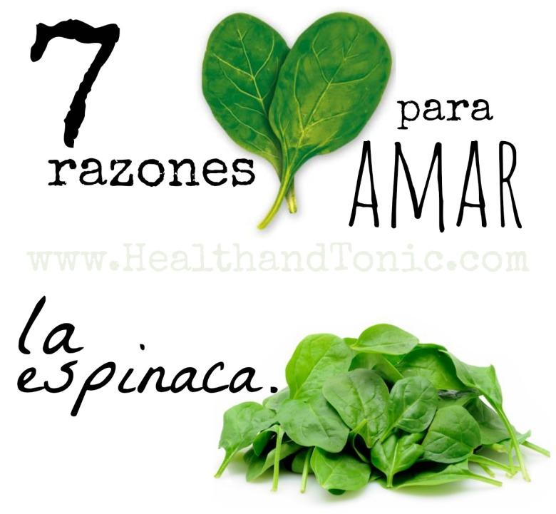 7 razones para amar la espinaca.