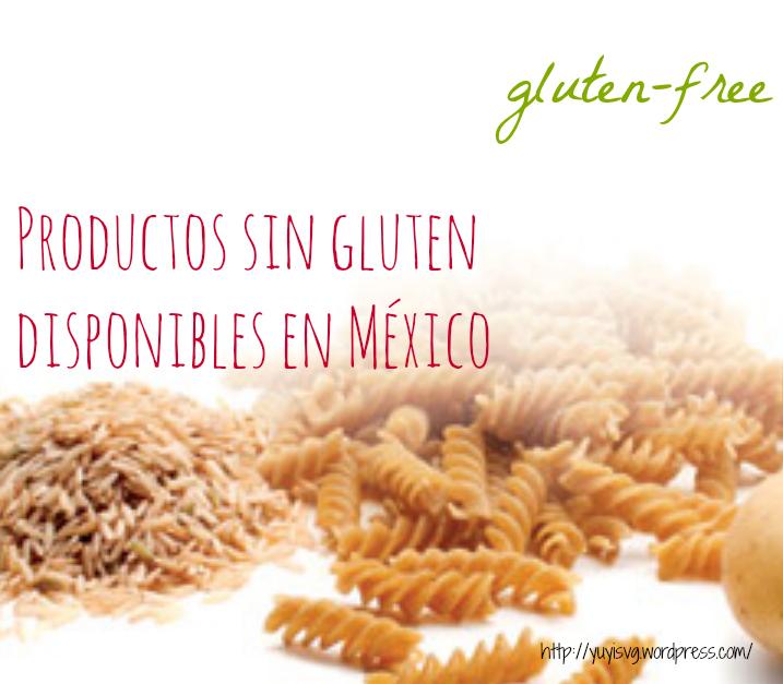 Productos sin gluten disponibles en México