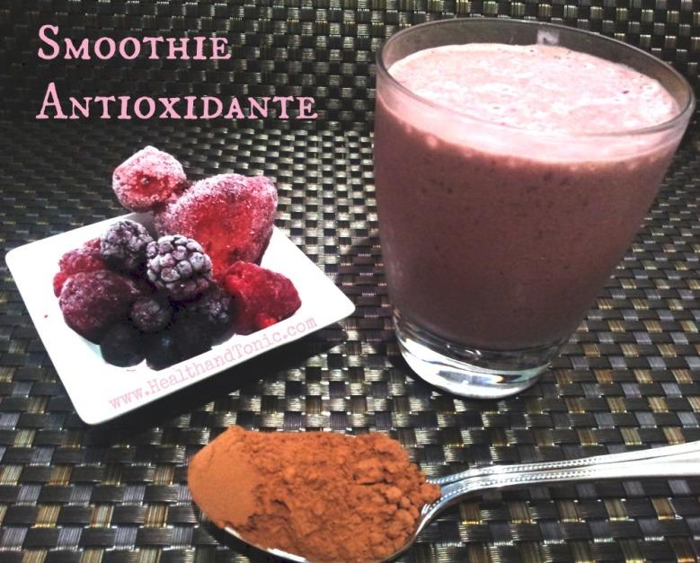 Smoothie antioxidante- delicioso y rápido desayuno para combatir los radicales libres.