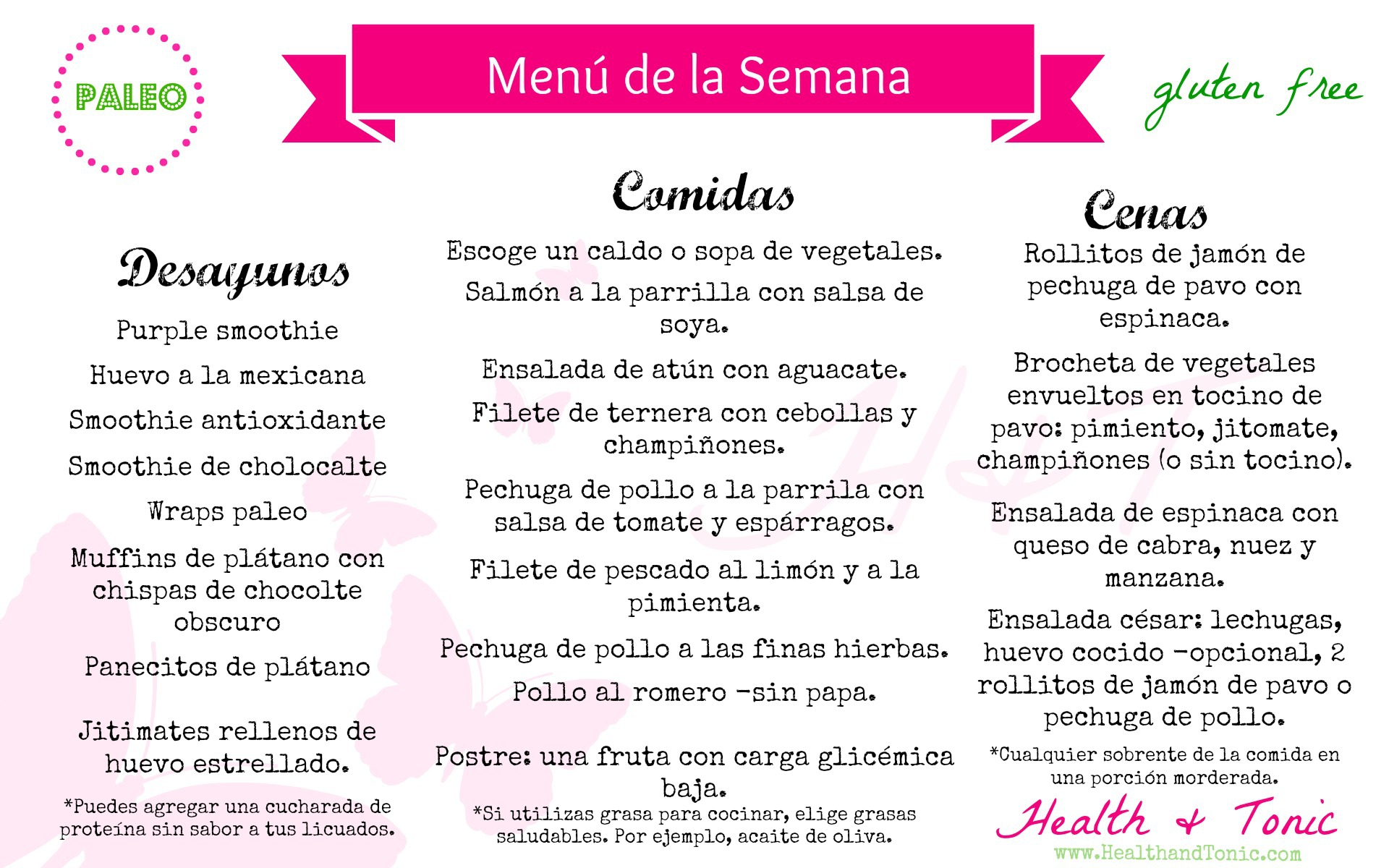 Dietas saludables menu for Menus faciles y sanos