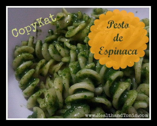 Receta: Pesto de Espinaca