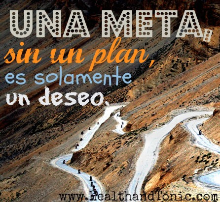 Planear para lograr las metas.