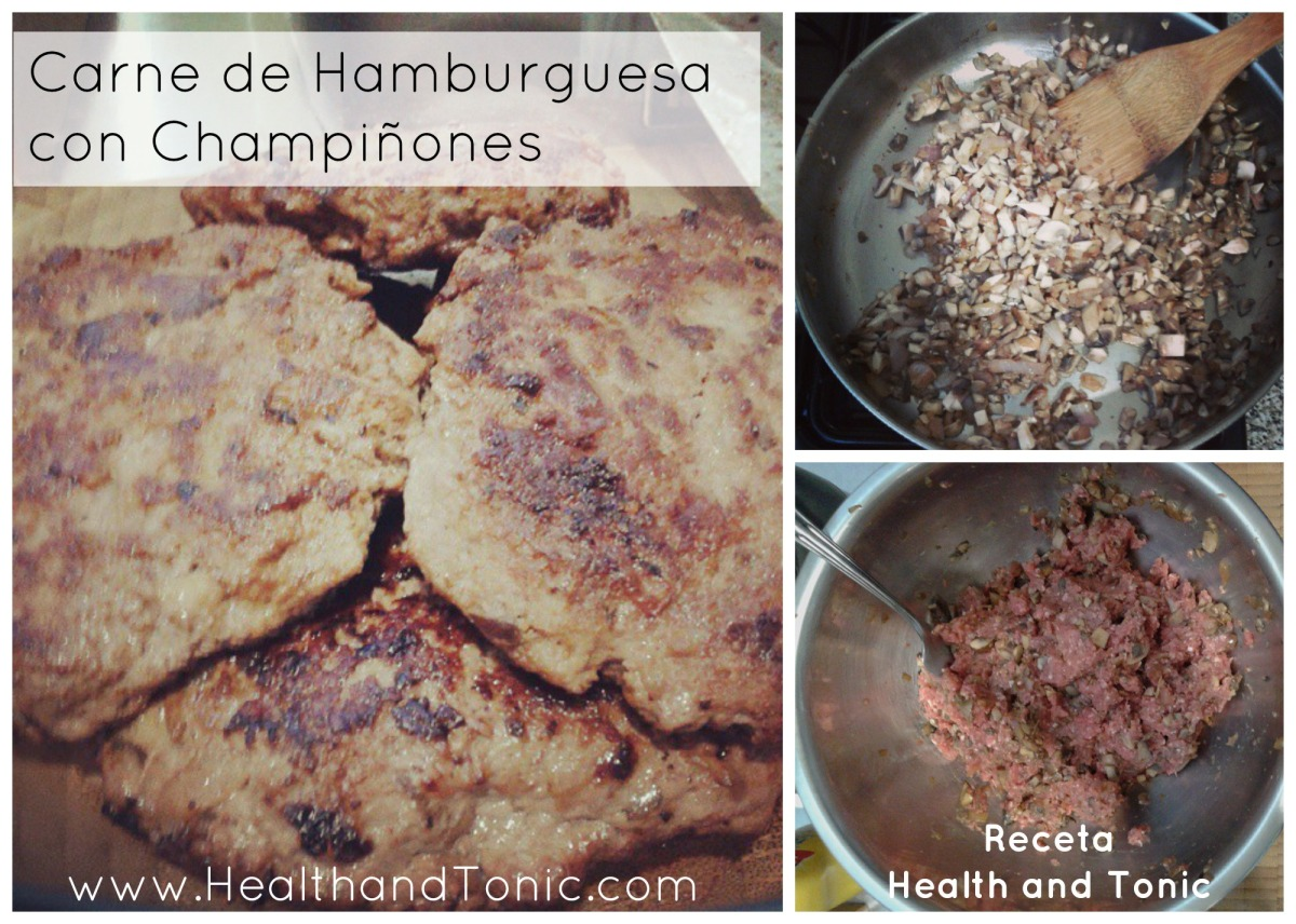 Receta: Carne de Hamburguesas conChampiñones
